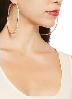 Oversized Hoop Earring Trio - 3122072699727