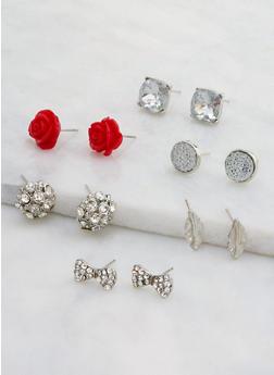 Assorted Set of 6 Stud Earrings - 3122073848810