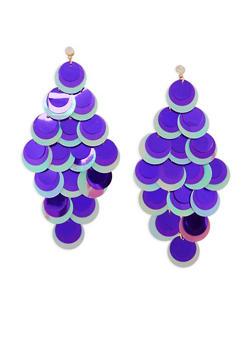 Sequin Chandelier Earrings - 3122074141122