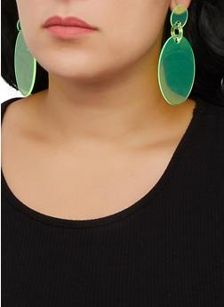 Neon Plastic Oval Earrings - 3122074141157