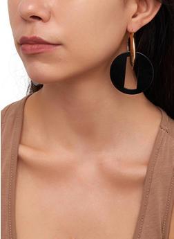 Linked Disc Hoop Earrings - 3122074141679