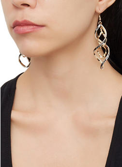 Set of 6 Snake Print and Faux Pearl Earrings - 3122074141687