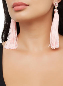 Rhinestone Tassel Earrings   3122074170334 - 3122074170334