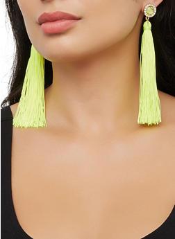 Rhinestone Tassel Earrings | 3122074170334 - 3122074170334