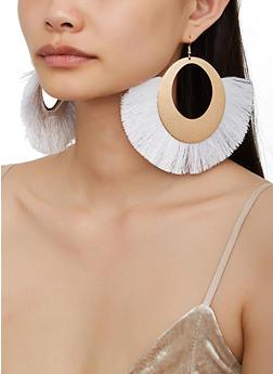 Oversized Fringe Fan Earrings - 3122074171142