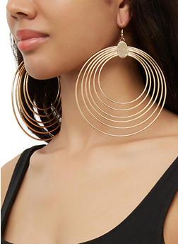 Wire Hoop Earrings - 3122074173112