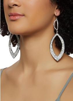 Rhinestone Tear Drop Earrings - 3122074173915
