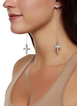 Cross Dangle Earring Trio - 3122074173953