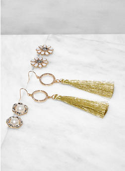 Assorted Tassel Earring Trio - 3122074179483