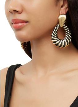 Textured Door Knocker Earrings - 3122074374501