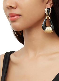 Painted Door Knocker Earrings - 3122074374505