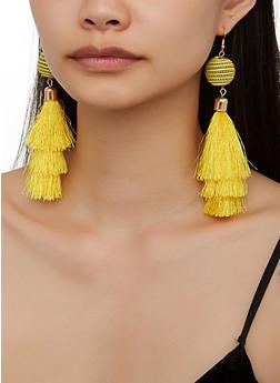 Tiered Tassel Drop Earrings - 3122074974024