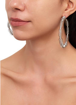 Metallic Coil Hoop Earring Trio | 3122074974028 - 3122074974028