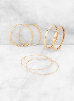 Textured Hoop Earring Trio | 3122074974049 - 3122074974049