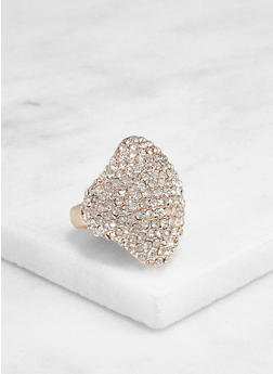 Rhinestone Metallic Stretch Ring - 3123003202435