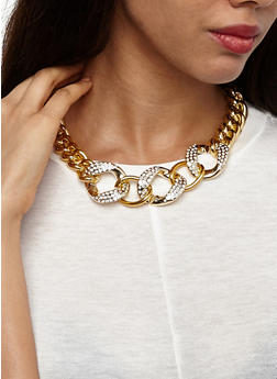 Curb Chain Necklace with Bracelet and Earrings - 3123035150061