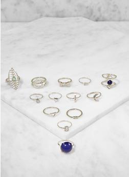 Assorted Metallic Rings Set - 3123035154515