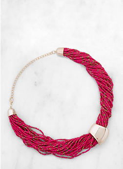 Twisted Bead Collar Necklace - 3123057695971
