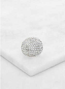 Rhinestone Dome Stretch Ring - 3123062814425