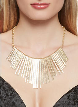 Stick Fringe Necklace with Earrings and Bangles - 3123062815216