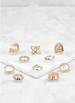 Set of 12 Assorted Rings - 3123062921615