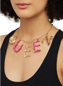 Queen Chain Necklace with Stud Earrings - 3123062924075