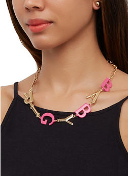 Babygirl Chain Necklace - 3123062925259