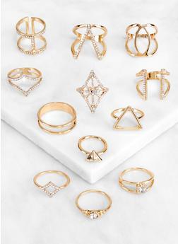 Metallic Cut Out Ring Set - 3123062925403