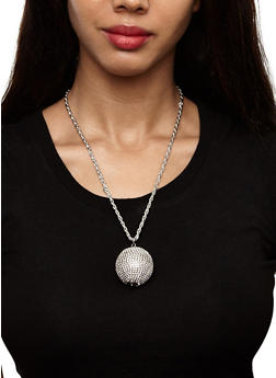 Ball Necklace Duo with Stud Earrings - 3123062928169
