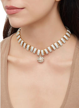 Curb Chain Necklaces and Bracelets with Stud Earrings - 3123072692194
