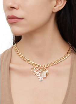 aff6e6862 Love Earrings with Necklace and Bracelet Set - 3123072692552