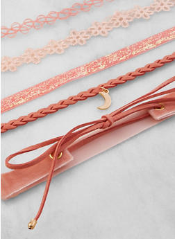 Set of 5 Assorted Chokers - 3123072694826