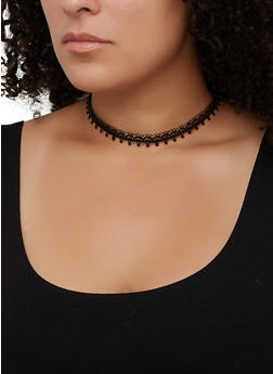 5 Assorted Studded Chokers - 3123072699784