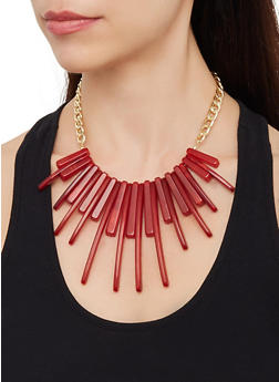 Stick Fringe Collar Necklace - 3123074141657