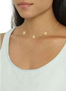 Set of 5 Rhinestone Necklaces - 3123074172071