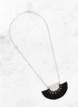 Metallic Tassel Necklace - 3123074373560