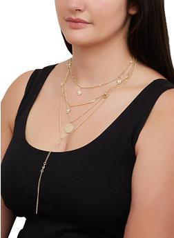Layered Mini Charm Necklace - 3123074373815