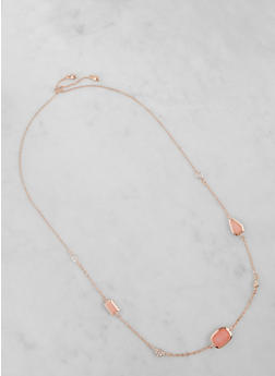 Long Chain Charm Necklace - 3123074591027