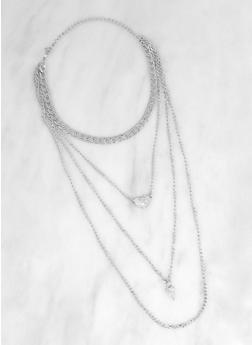Layered Choker Necklace - 3123074974001