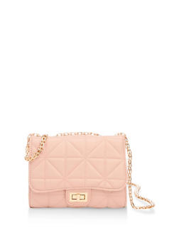 Quilted Double Chain Handbag - 3124040320576