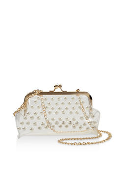 Clear Faux Pearl Crossbody Bag - 3124040320811