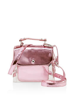 Clear Mirrored Crossbody Satchel - 3124040320818