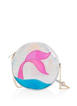 Glitter Mermaid Round Crossbody Bag - 3124040321249