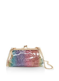 Glitter Kiss Lock Crossbody Bag - 3124040321376