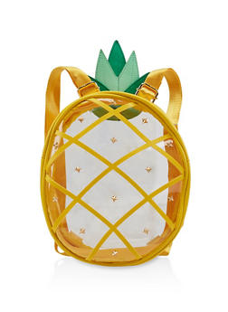 Clear Studded Pineapple Backpack - 3124040321467