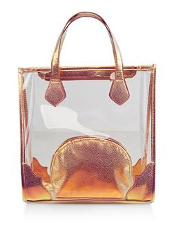 Clear Tote Bag with Cosmetic Pouch - 3124040321564