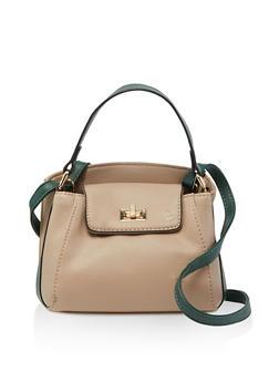 Contrast Strap Mini Handbag - 3124040321806