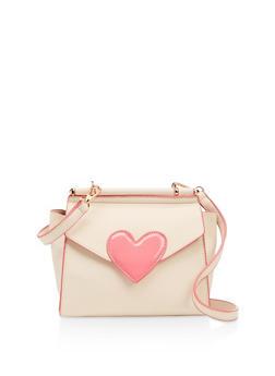 Heart Detail Crossbody Bag - 3124040322907