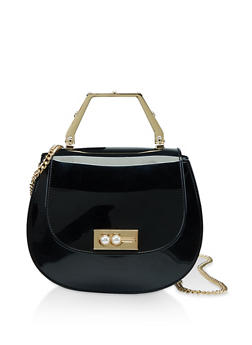Chain Strap Jelly Saddle Bag - 3124061591120