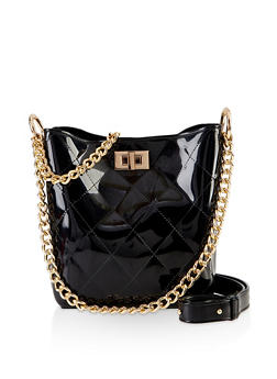Quilted Jelly Bucket Bag - 3124061591140